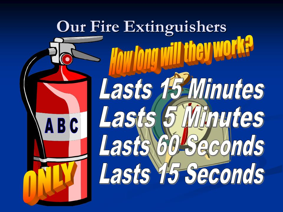 Extinguishers are placed in easy-to- see & reach positions.