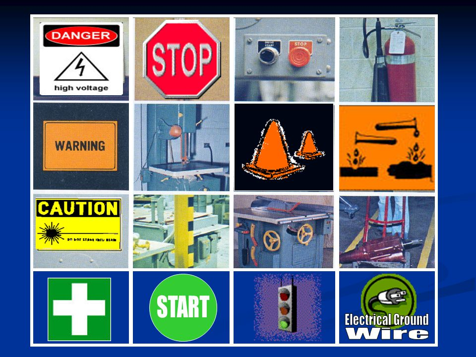 Safety Color Code Safety Red Safety Orange Safety Yellow Safety Green Stop/Danger/Fire Warning Caution Start/Safety Info