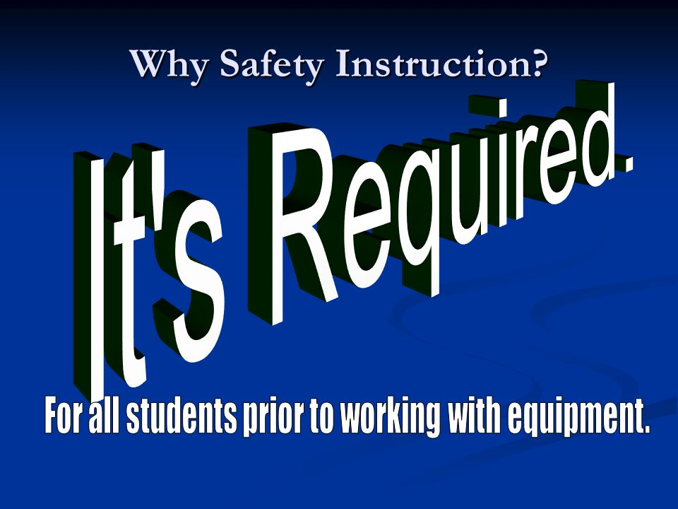 Essential Questions: 1.Why is safety important. 2.