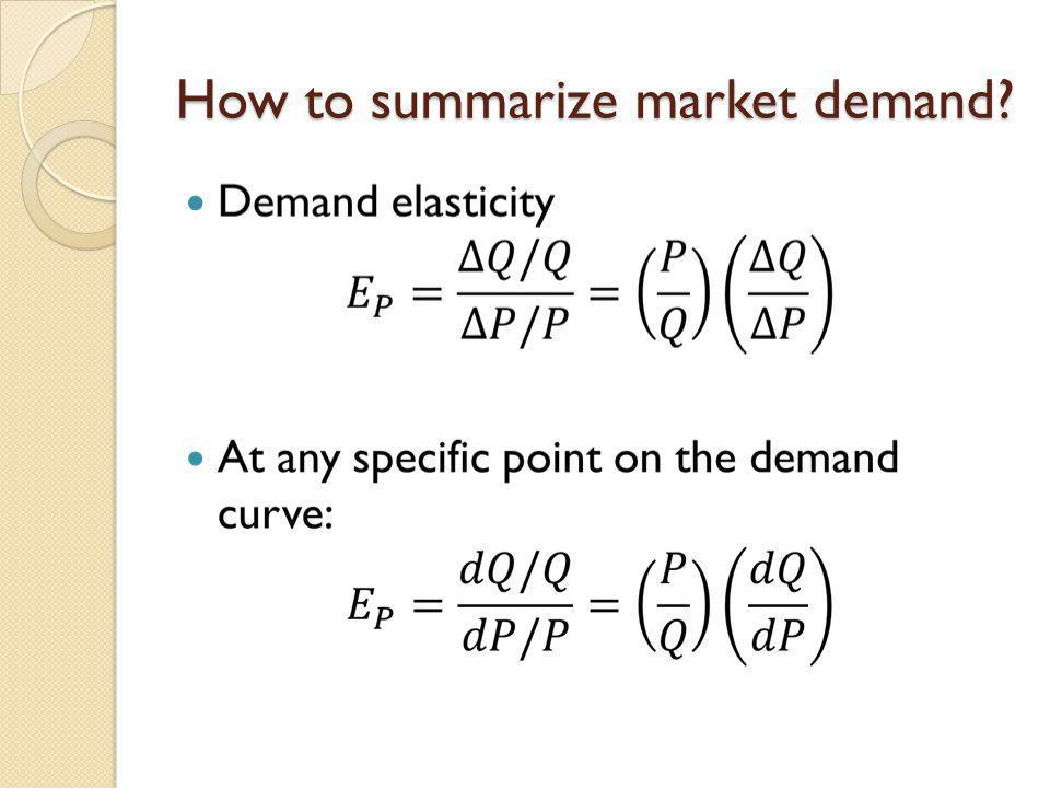 How to summarize market demand?