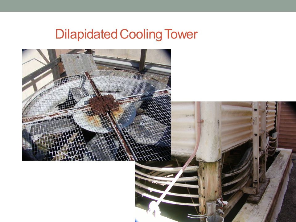 Dilapidated Cooling Tower