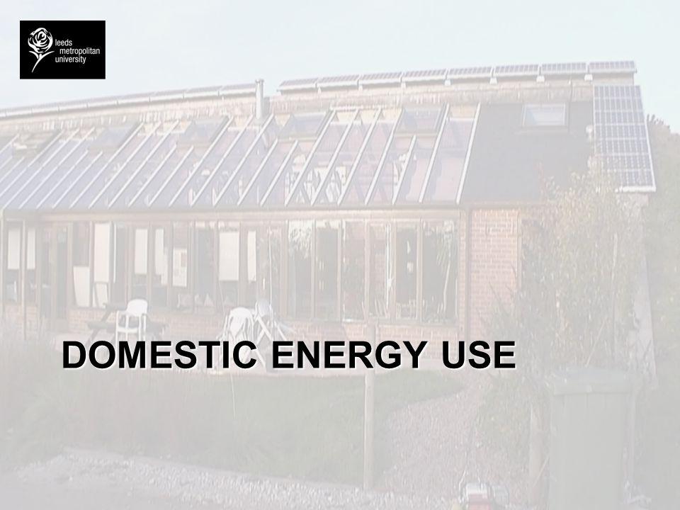 DOMESTIC ENERGY USE