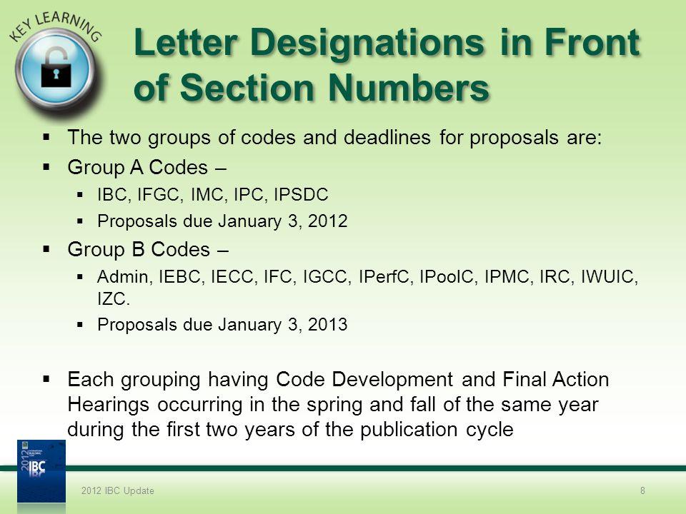 2012 IBC COMAR Modifications Chapter 1.