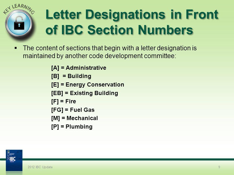 2012 IBC COMAR Modifications 2.Chapter 1.