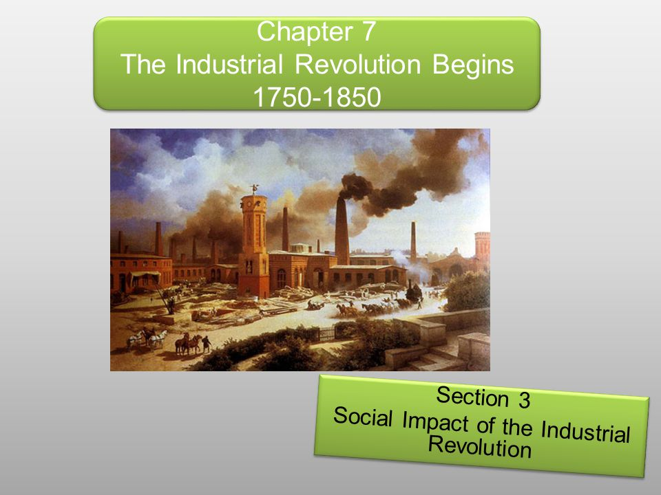 Objectives for this section: *Explain what caused urbanization and what life was like in the new industrial cities.