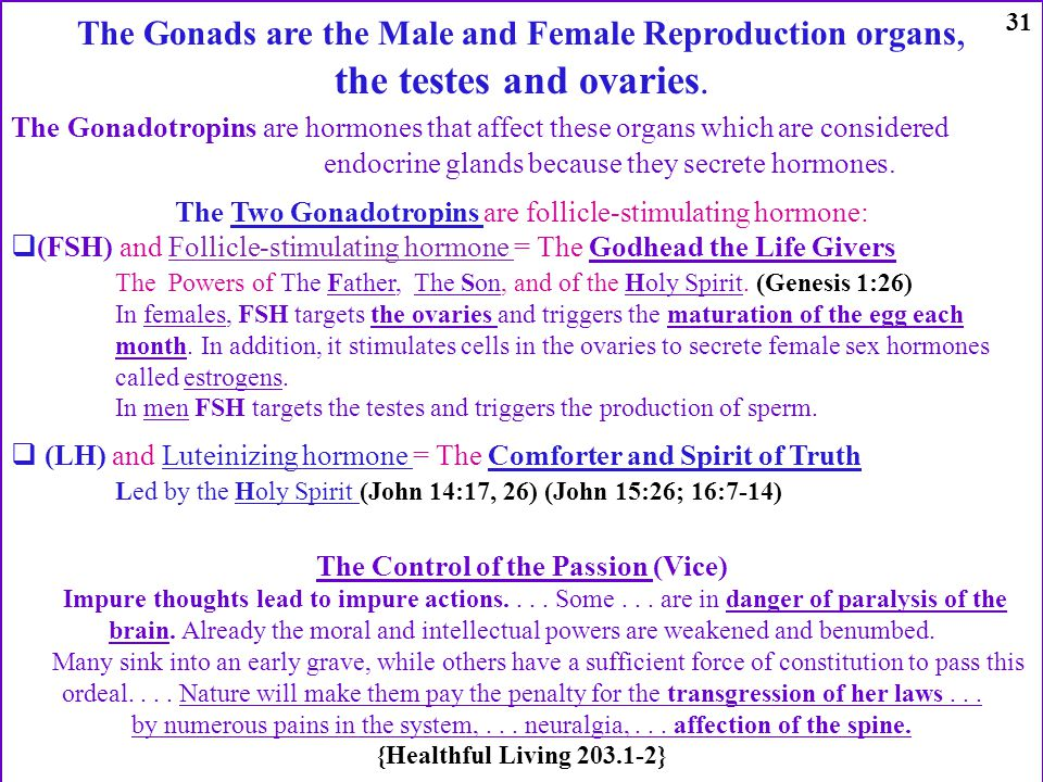 The Gonads are the Male and Female Reproduction organs, the testes and ovaries. The Gonadotropins are hormones that affect these organs which are cons