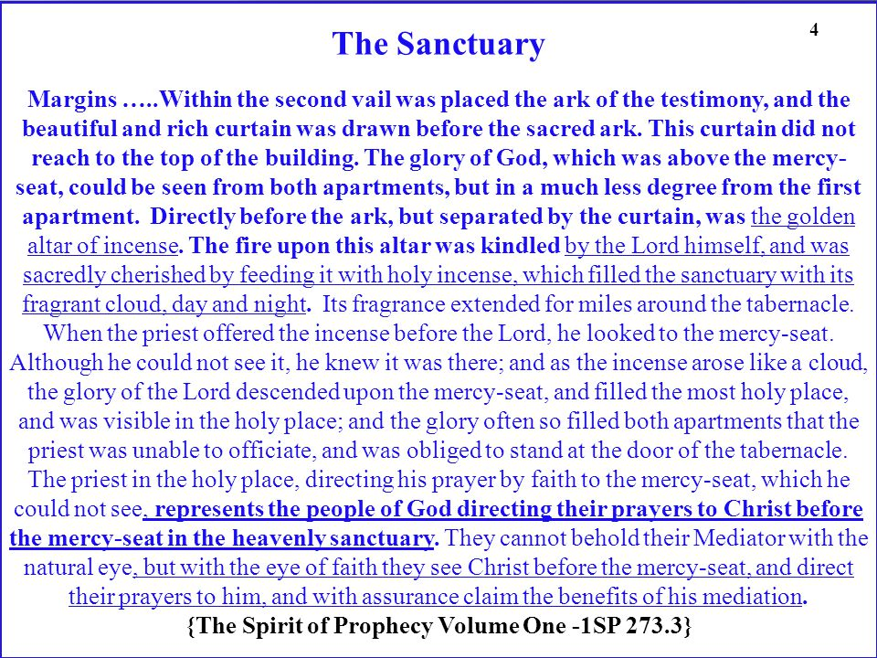 The Sanctuary Margins …..Within the second vail was placed the ark of the testimony, and the beautiful and rich curtain was drawn before the sacred ark.