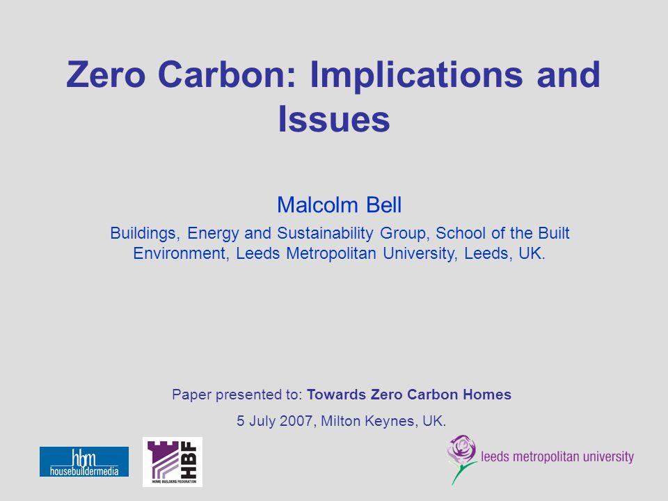 Towards Zero Carbon