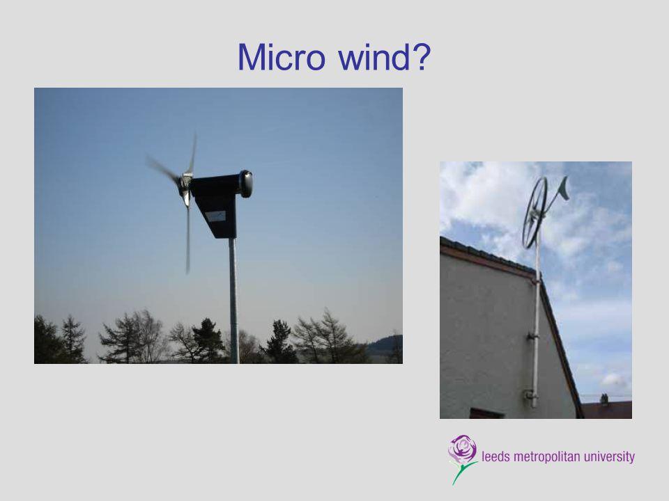 Micro wind?