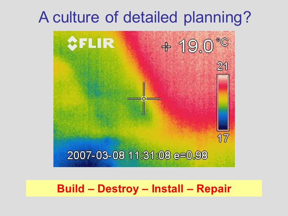 Build – Destroy – Install – Repair