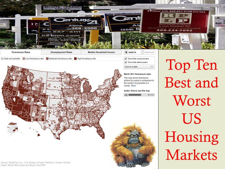 Top Ten Best and Worst US Housing Markets