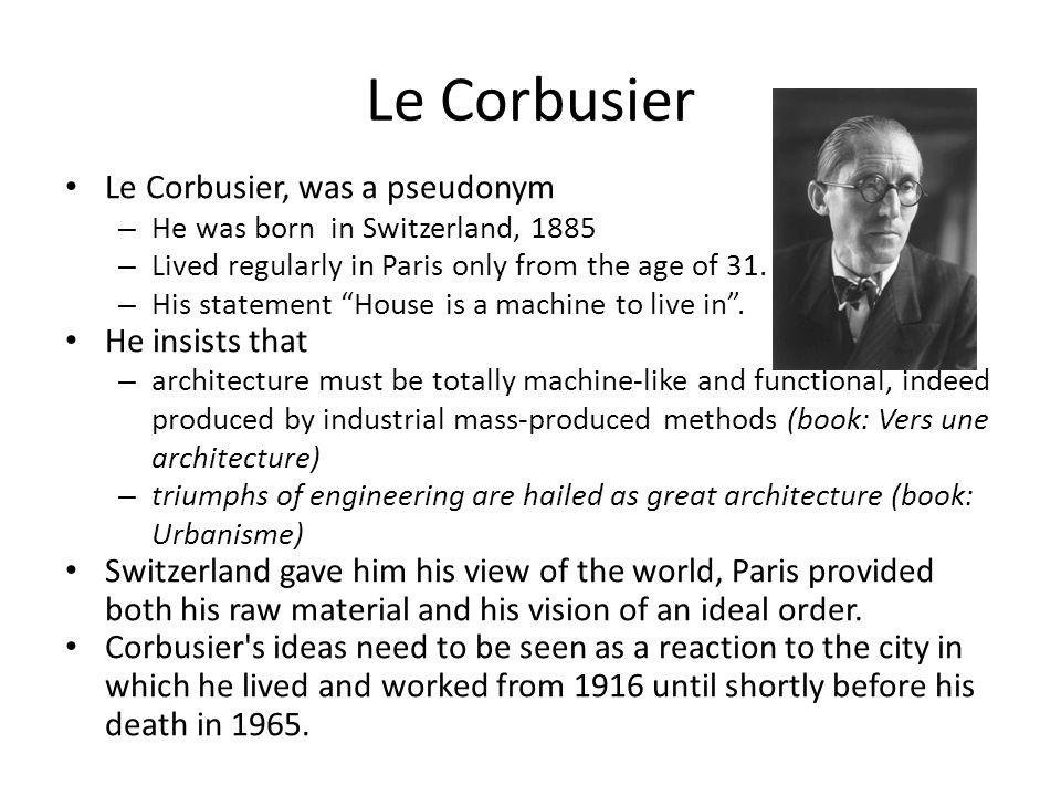 young Corbusier concluded: – Paris could be saved only by the intervention of grands seigneurs, men without remorse : like Louis XIV, Napoleon, Haussmann.