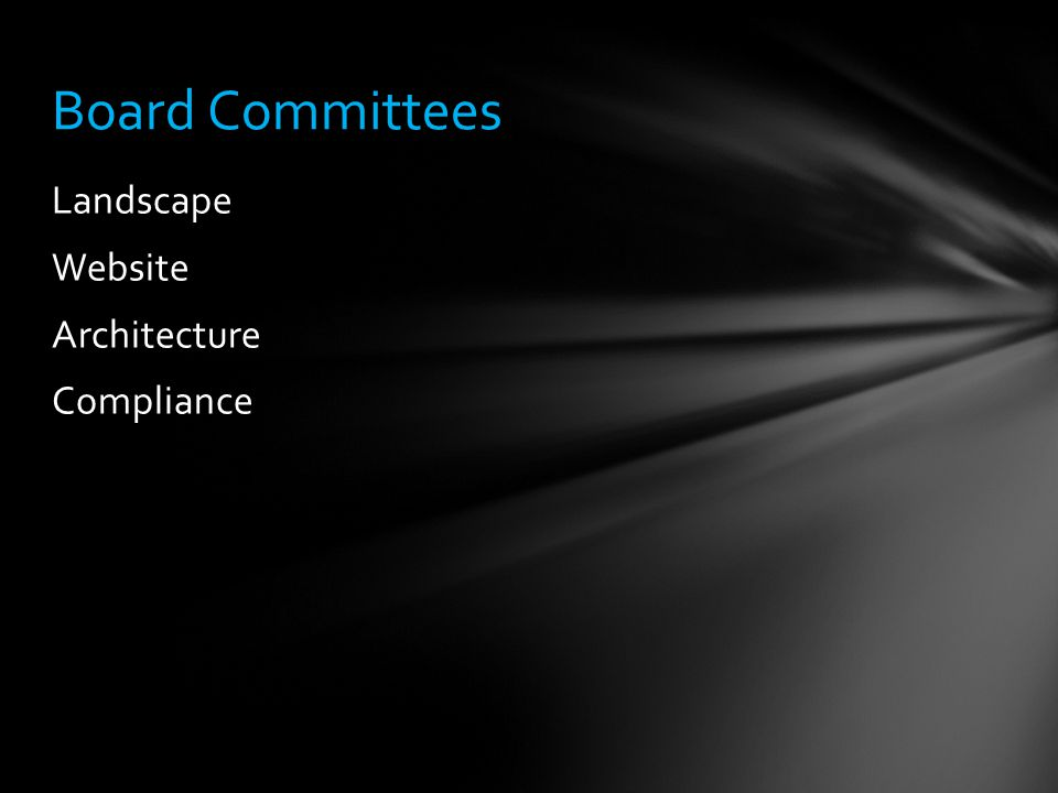 Landscape Website Architecture Compliance Board Committees