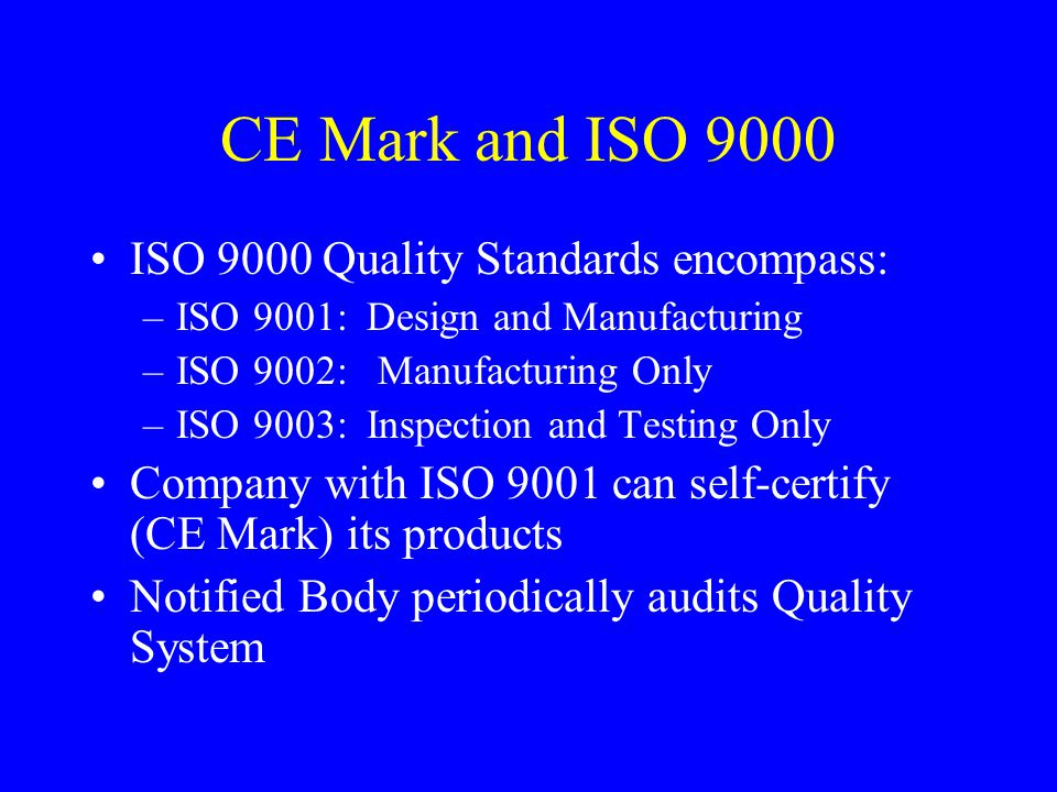 Design Controls Quality System component that applies to product design –ISO 9001 –FDA QSR (Quality System Regulations) Goal: prevent failures due to bad design