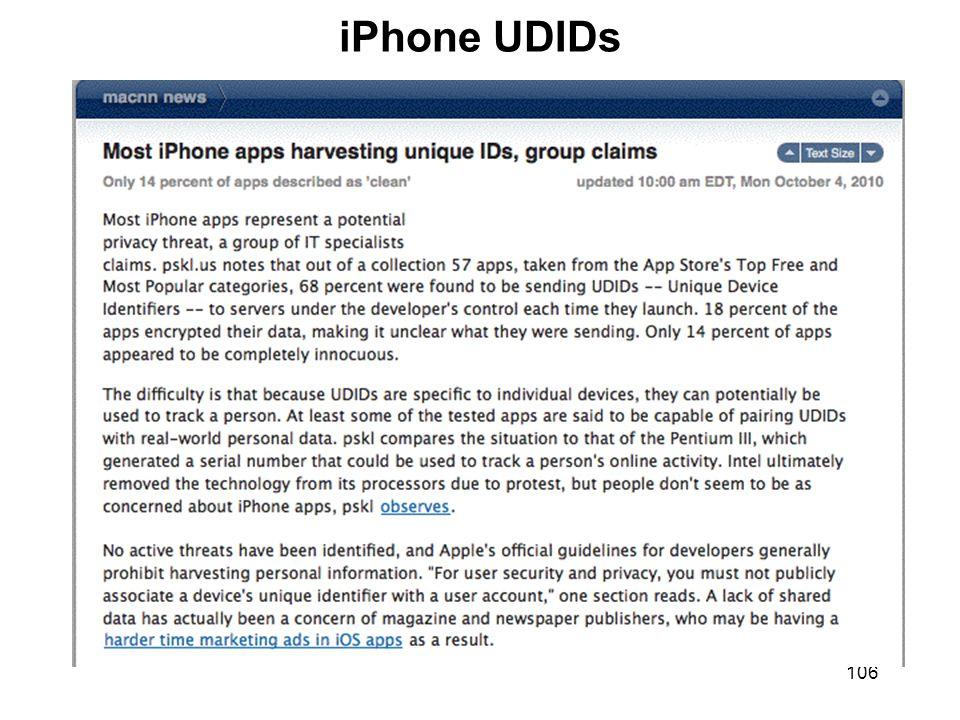 106 iPhone UDIDs
