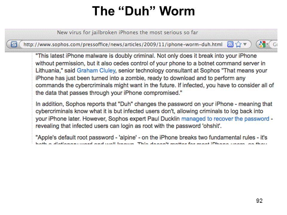 92 The Duh Worm