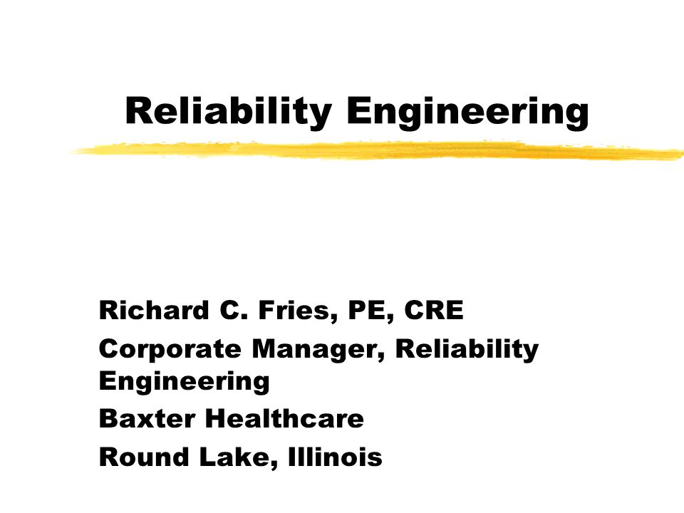 The Reliability Group You make it, Well break it