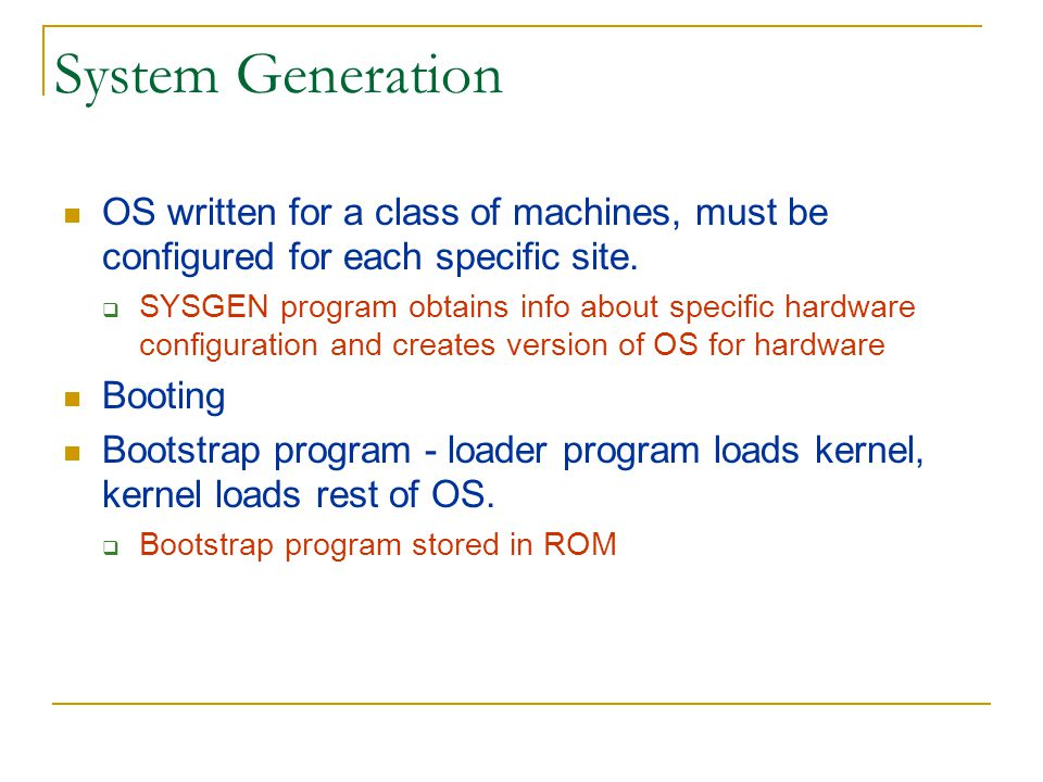 Operating Systems: How are they organized.