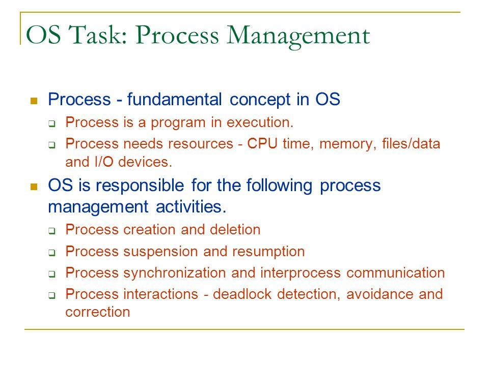 OS Task: Memory Management Main Memory is an array of addressable words or bytes that is quickly accessible.
