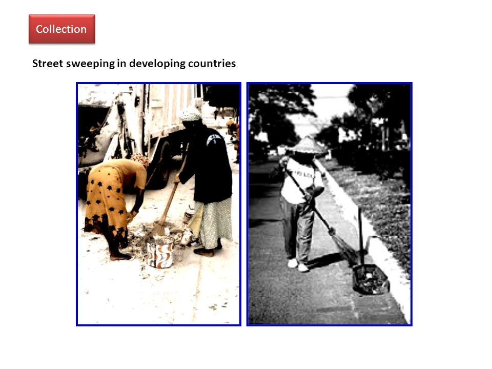 Street sweeping in developing countries Collection