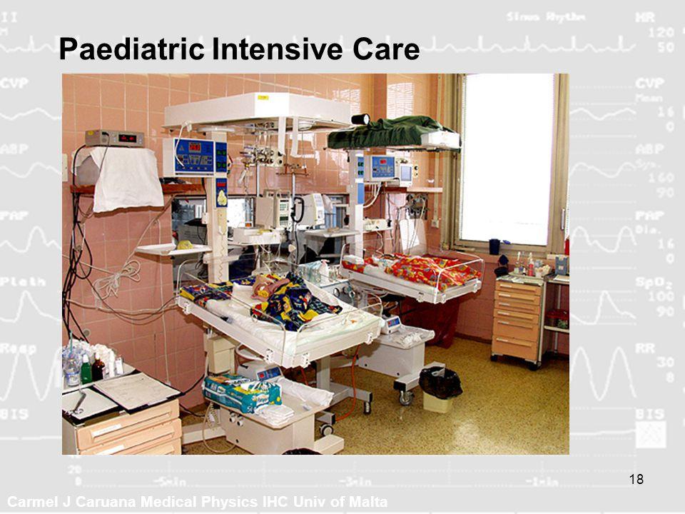 Carmel J Caruana Medical Physics IHC Univ of Malta 18 Paediatric Intensive Care