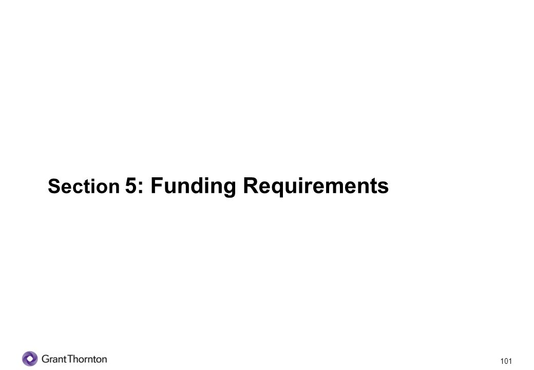 102 Section 5: Funding Requirements Q1.