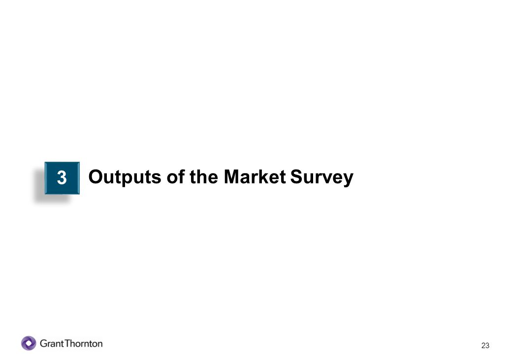 24 Output of the Market Survey The objective of this market survey is to develop booklets including credit/product programme information for ten selected SME subsectors to assist the banks in implementing the same under their own SME initiative.