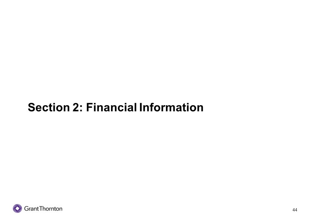 45 Section 2: Financial Information Q1 Do you prepare financial statements.