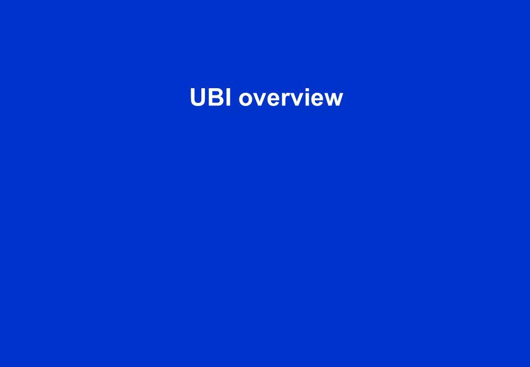 UBI overview