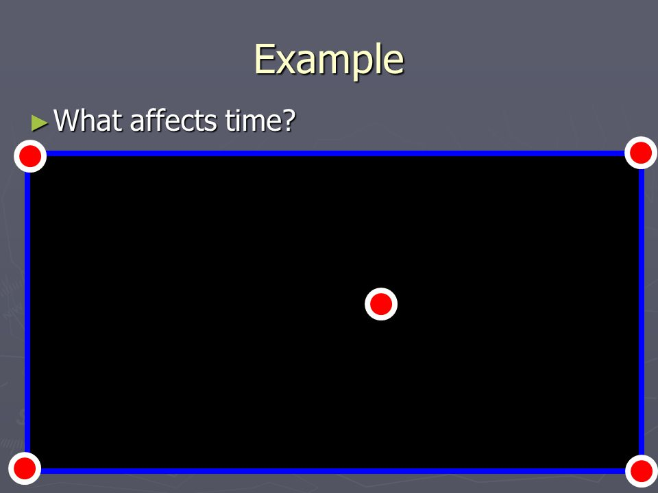 Example What affects time? What affects time?
