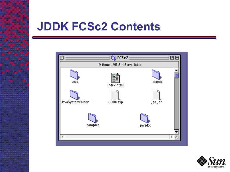 JDDK FCSc2 Contents