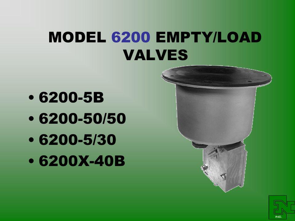 MODEL 6200 EMPTY/LOAD VALVES 6200-5B 6200-50/50 6200-5/30 6200X-40B