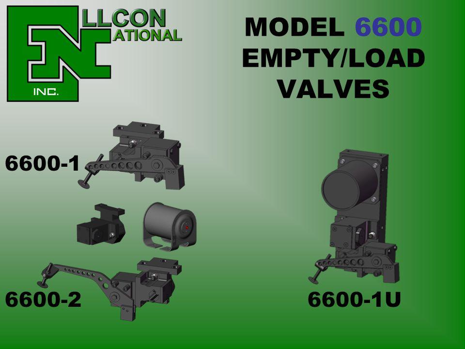 MODEL 6600 EMPTY/LOAD VALVES 6600-1 6600-2 6600-1U