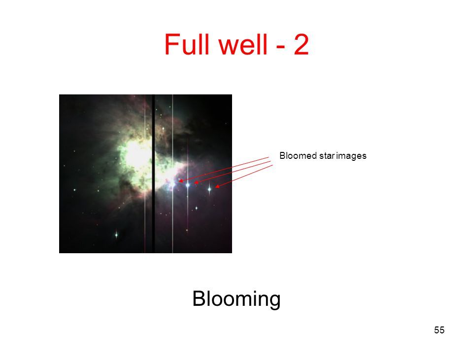 55 Full well - 2 Blooming Bloomed star images