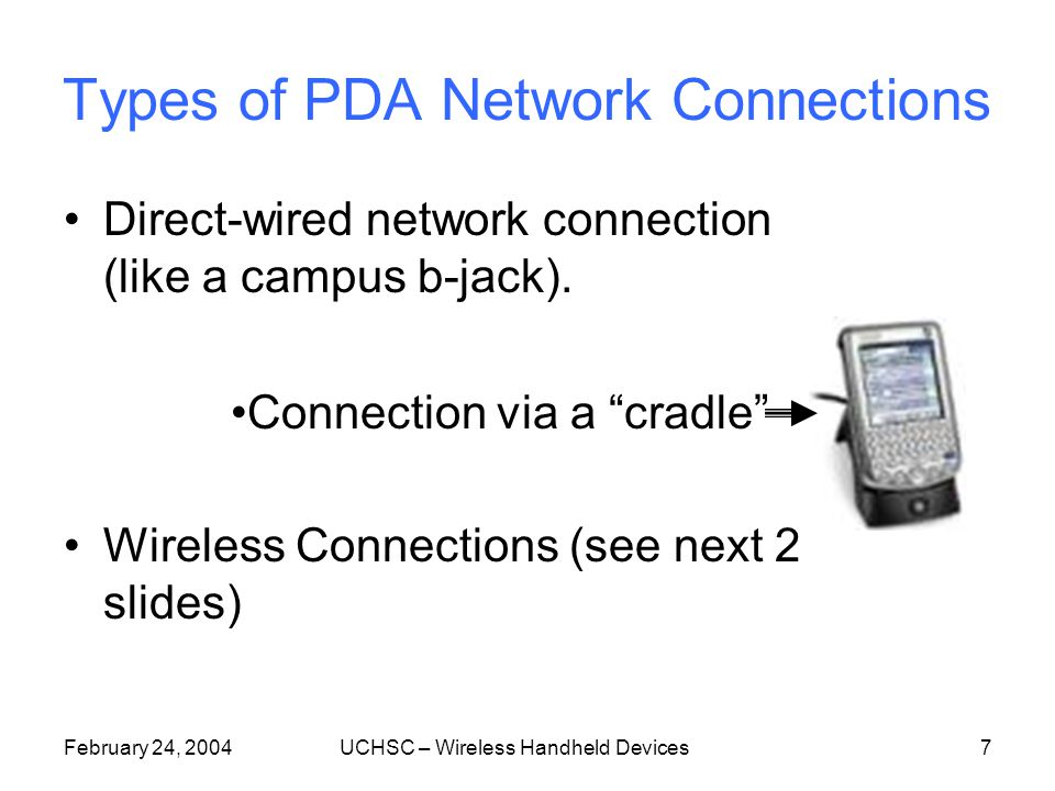 February 24, 2004UCHSC – Wireless Handheld Devices17 How do the vendors stack up.