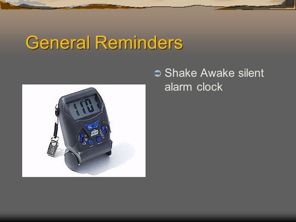 General Reminders Shake Awake silent alarm clock