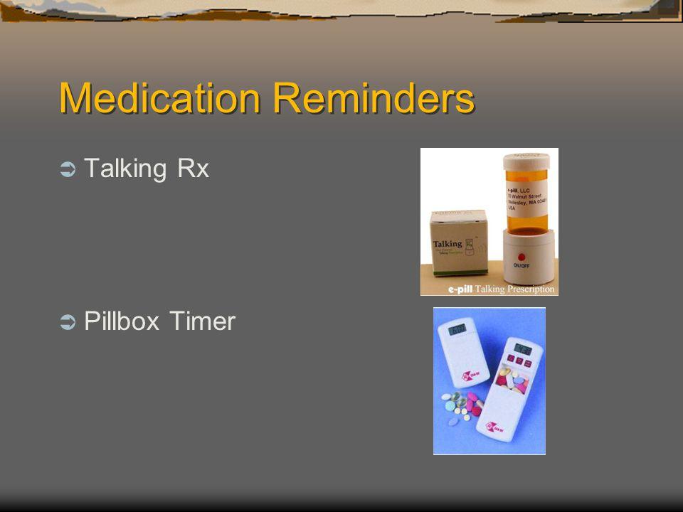 Medication Reminders Talking Rx Pillbox Timer