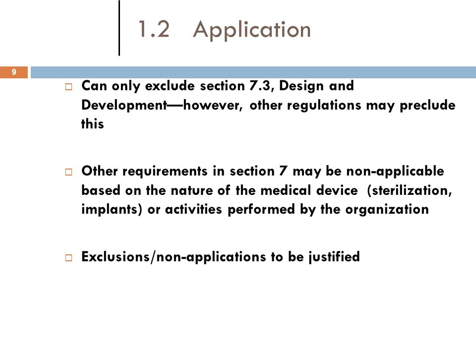 4.1 General Requirements 10 The organization shall establish, document, implement and maintain a quality management system and maintain its effectiveness in accordance with the requirements of this International Standard.