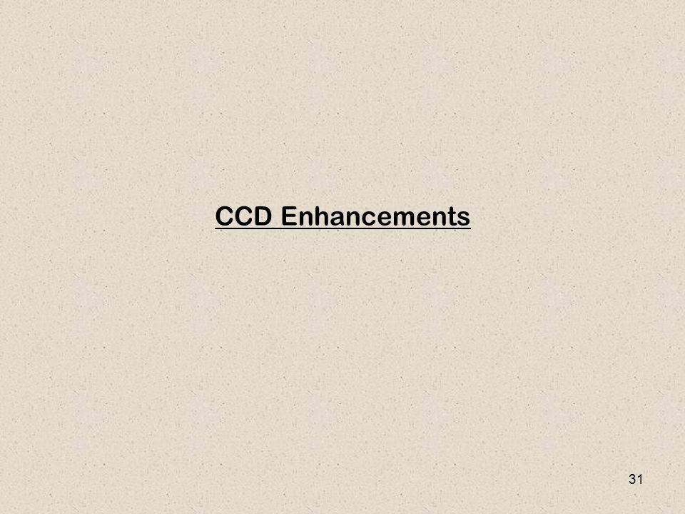 31 CCD Enhancements
