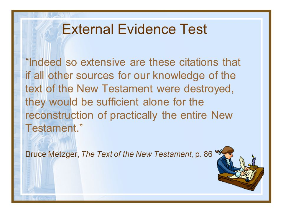 Extra-Biblical Christian Sources Taken from Josh McDowell,The New Evidence That Demands a Verdict, p. 43 Quotations from early Church Fathers concerni