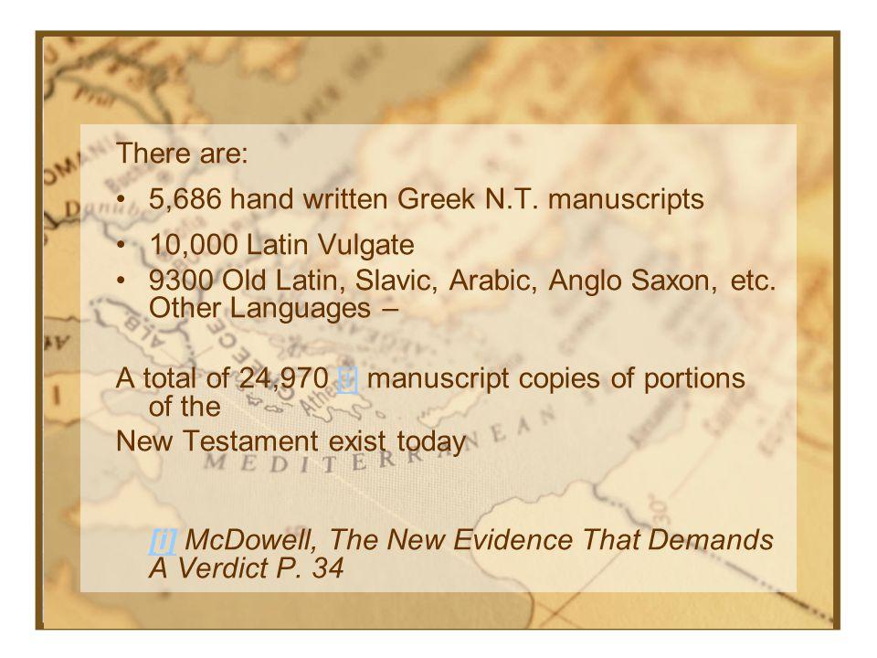 AuthorBook (X) (X)Copies Caesar Gallic Wars 1000 yrs 10 Plato c. 1300 yrs 7 Tacitus Annals c. 1000 yrs 20 Pliny Natural History c. 750 yrs 7 Thucydidi