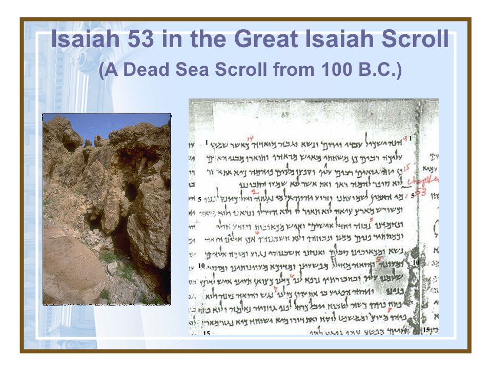 The Significance of the Dead Sea Scroll discoveries? The earliest manuscripts up until the discovery of the Dead Sea Scrolls was the Cairo codex dated