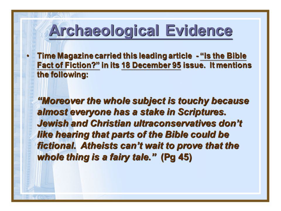 Significance of the Dead Sea Scrolls? It is a matter of wonder that through something like a thousand years the text underwent so little alteration!It