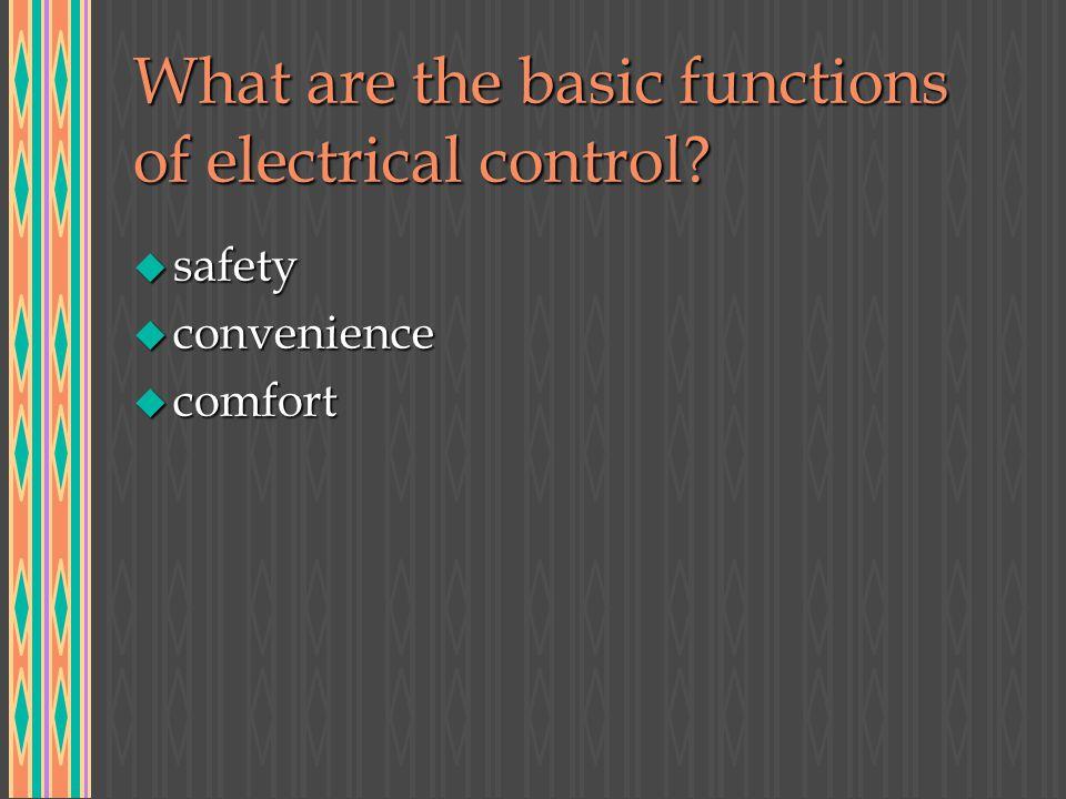 Non-Automatic Controls u plug at end of cord u snap switch u magnetic switch