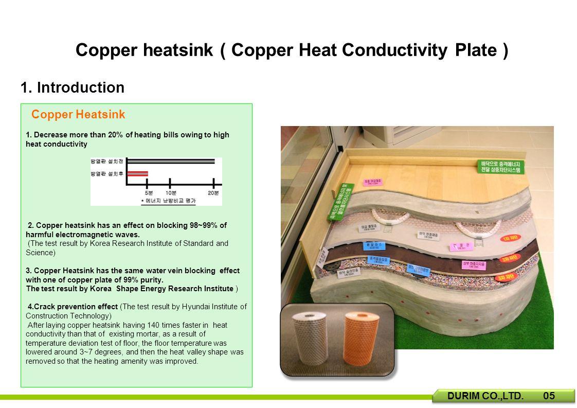 Copper heatsink ( Copper Heat Conductivity Plate ) 1.
