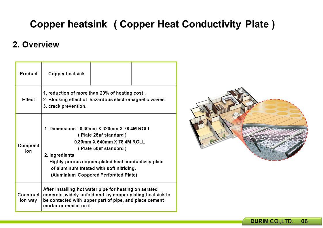 Copper heatsink ( Copper Heat Conductivity Plate ) 2.
