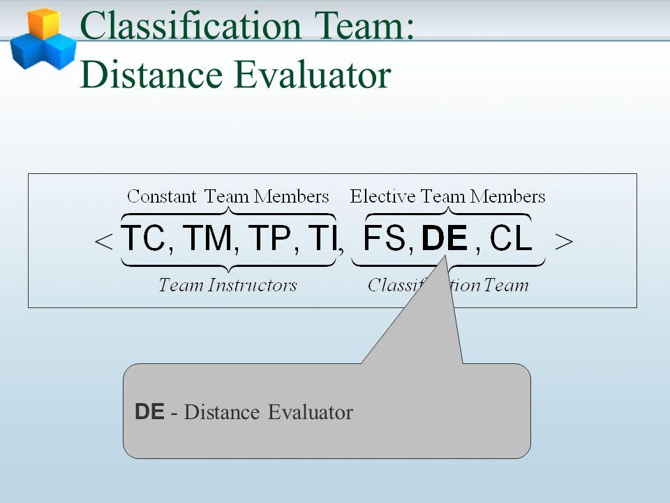 Classification Team: Distance Evaluator DE - Distance Evaluator