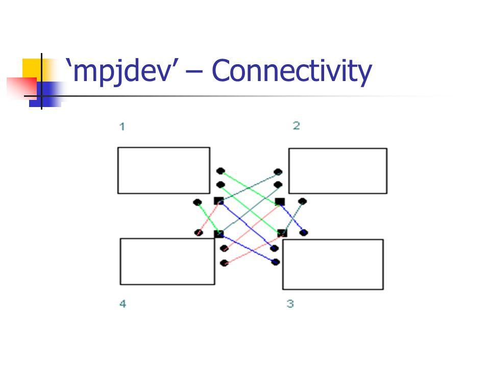 mpjdev – Connectivity