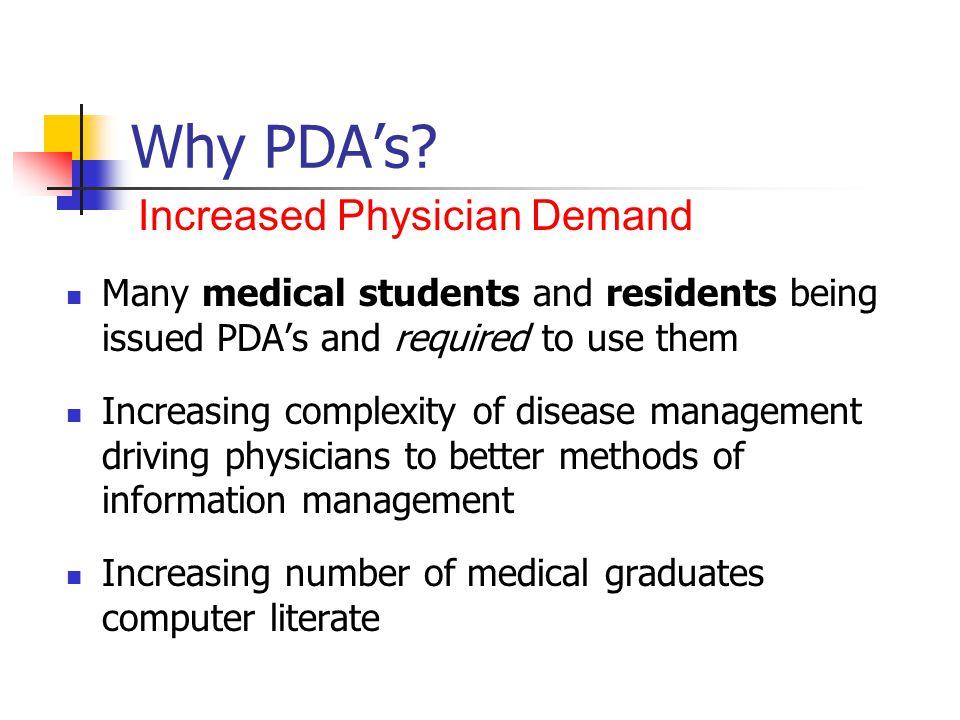Why PDAs.