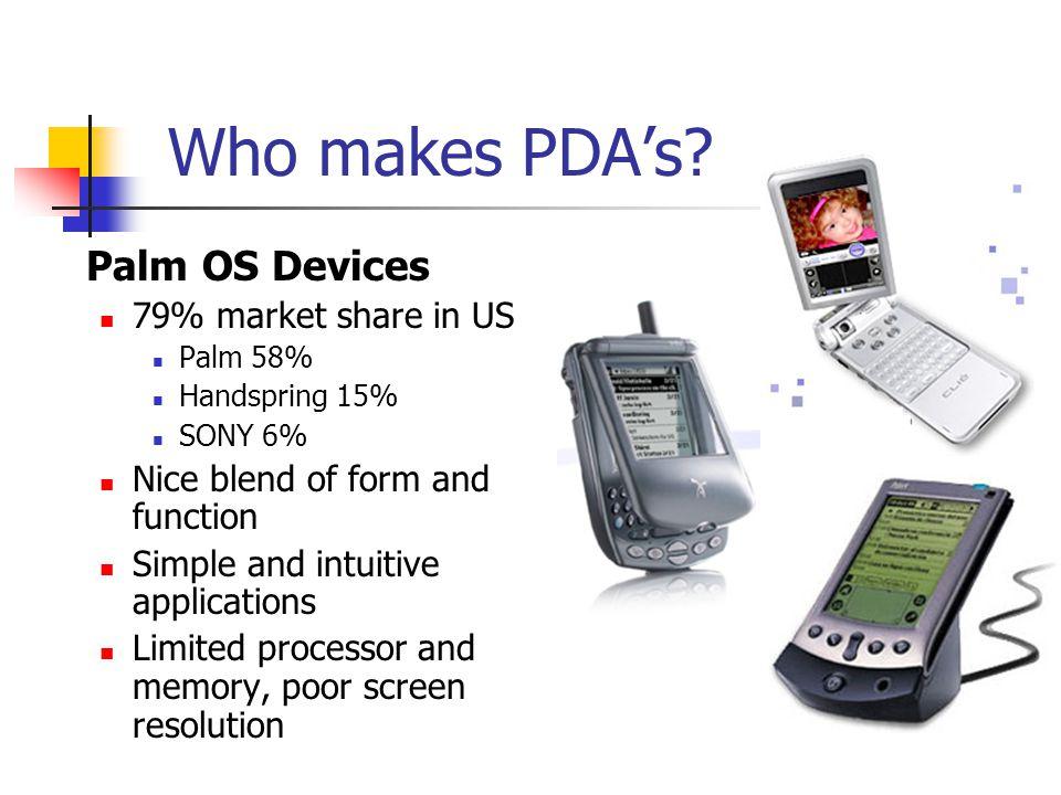 Who makes PDAs.